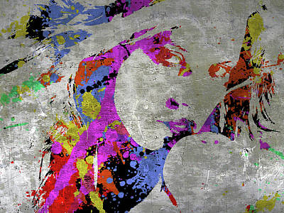 Painting - True Colors On Silver Let Me Paint You by Robert R Splashy Art Abstract Paintings