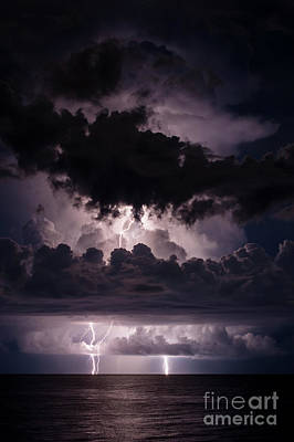 Lightning Photograph - True Demensions Of A Storm by Quinn Sedam