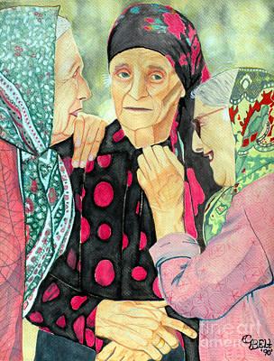 Russian Woman Painting - True Friends by Christine Belt