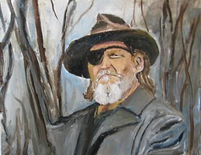 True Grit Painting - True Grit Jeff Bridges by Udi Peled