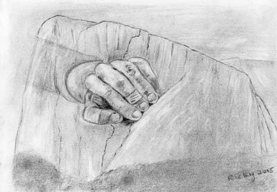 Grand Canyon Drawing - True Grit by Veronica Rickard