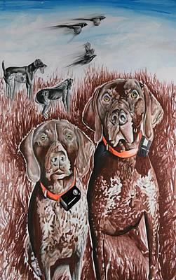 Target Field Painting - True Hunters by Shawna Lewellen