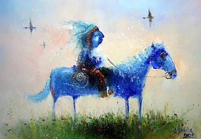 Painting - True Indian by Igor Medvedev