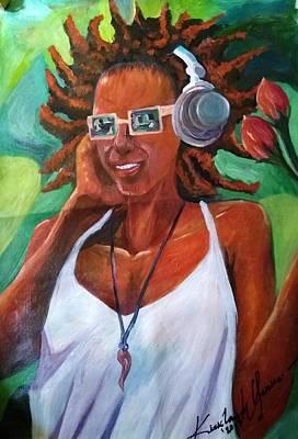 True Jamaican Rhythm Art Print by Kirkland  Clarke