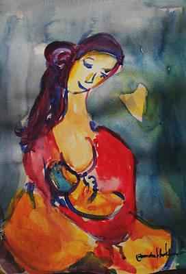 Painting - True Love #2 by Wanvisa Klawklean
