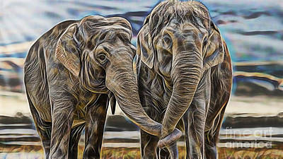 Africa Mixed Media - True Love by Marvin Blaine