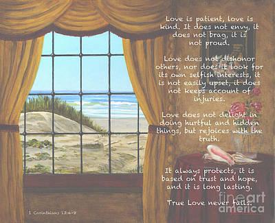 True Love Quote Art Print