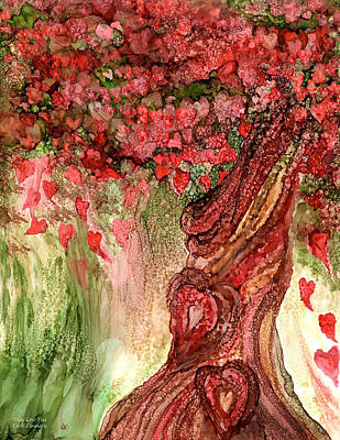 True Mixed Media - True Love Tree by Carol Cavalaris