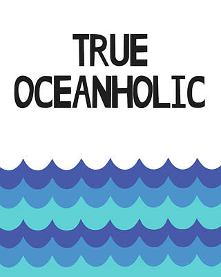 Wave Mixed Media - True Oceanholic by Studio Grafiikka