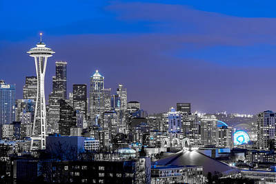 Photograph - True To The Blue In Seattle by Ken Stanback