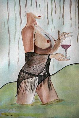 Painting - True Wine. by Shlomo Zangilevitch