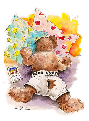 Fed Drawing - Truffle Mcfurry Hates Mondays by Miki De Goodaboom