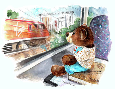 Painting - Truffle Mcfurry In The Transpennine Express by Miki De Goodaboom