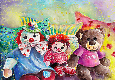 Truffle With His German Friends Monty And Chloe Art Print by Miki De Goodaboom