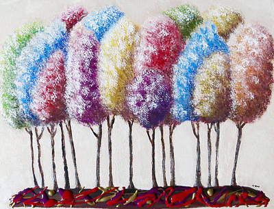 Art Print featuring the painting Truffula Forest by Teresa Wing