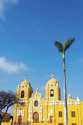 Trujillo Cathedral And Palm Tree Art Print by Jess Kraft