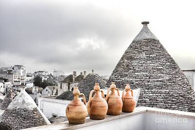 Italian Pottery Photograph - Trulli by Gabriela Insuratelu
