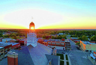 Photograph - Truman Clock Tower by Dave Luebbert
