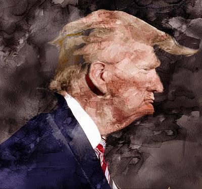 Hillary Clinton Drawing - Trump 10 by Jani Heinonen