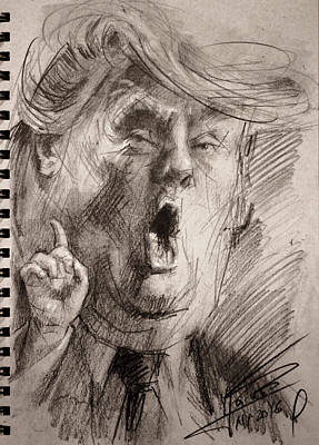 Republican Painting - Trump A Dengerous A-hole by Ylli Haruni