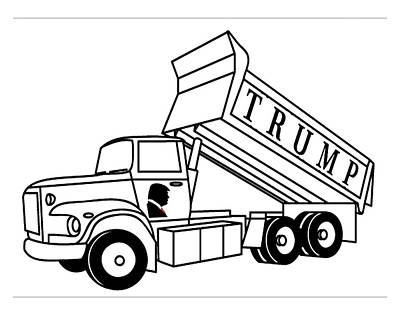 Digital Art - Trump Dump Truck by Jeff Brunton