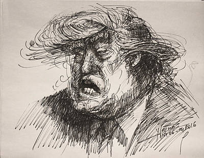 Republican Painting - Trump Harmful Ignorant by Ylli Haruni