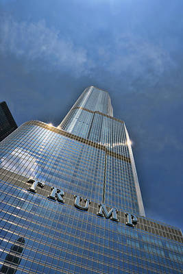 Photograph - Trump International Hotel And Tower - Chicago by Allen Beatty