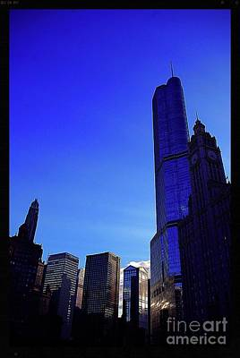 Frank J Casella Royalty-Free and Rights-Managed Images - Trump International Hotel and Tower Chicago at Sunset by Frank J Casella