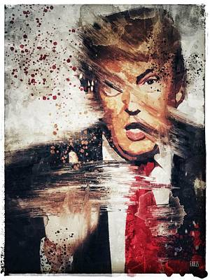 Digital Art - Trump by Jim Faris