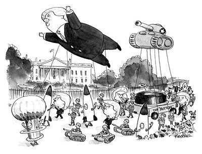 Drawing - Trump Parade by Pat Brynes