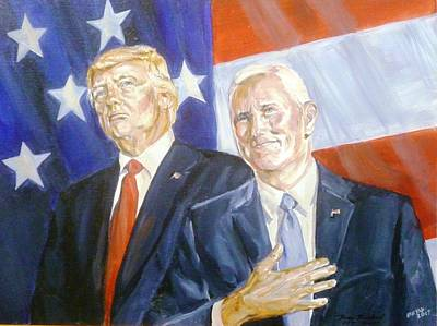 Painting - Trump Pence 2016 by Bryan Bustard