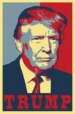 The Boss Digital Art - Trump Pop Art  by Daniel Hagerman
