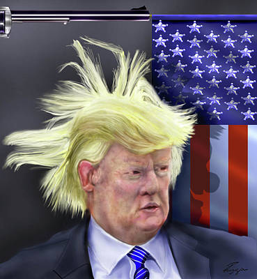 Trump President Of Bizarro World - Maybe Art Print by Reggie Duffie