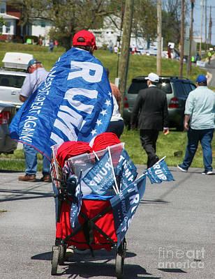 Running Photograph - Trump Pusher  by Steven Digman