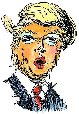 Hillary Clinton Drawing - Trump by Robert Yaeger