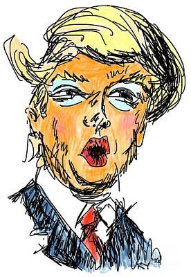 Hillary Clinton Digital Art - Trump by Robert Yaeger