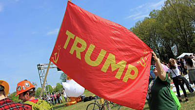 Photograph - Trump Russian Flag by Cora Wandel