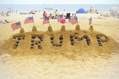 Photograph - Trump - Sandcastle by Colleen Kammerer