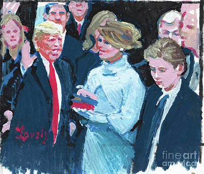 Painting - Trump Sworn In As 45th Potus by Candace Lovely