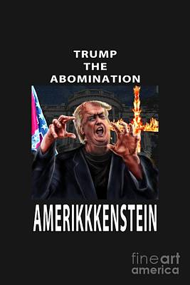 Painting - Trump The Abomination by Reggie Duffie
