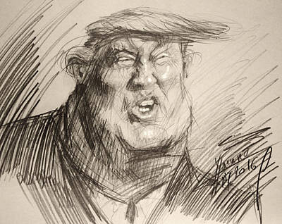 Republican Painting - Trump-the Womanizer For President by Ylli Haruni