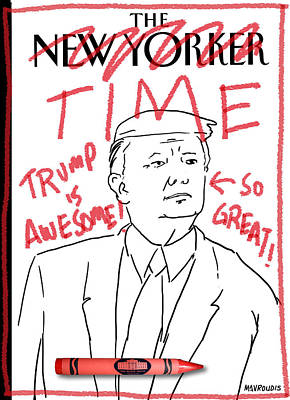 President Drawing - Trump Time by John Mavroudis