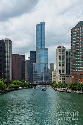 Photograph - Trump Tower Chicago River by Jennifer White