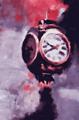 Michigan Theatre Painting - Trump Tower Clock Ny 563 2 by Mawra Tahreem