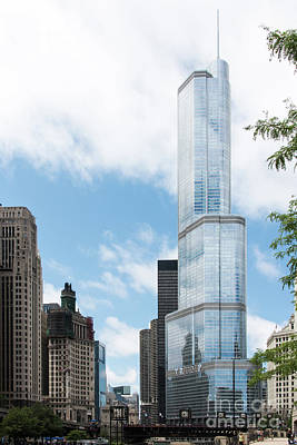 Photograph - Trump Tower In Chicago by David Levin