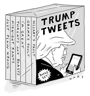 Drawing - Trump Tweets Boxed Set by Kim Warp