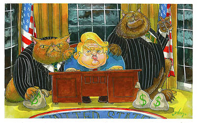 Whitehouse Painting - Trumpcare Done by Pete Conroy