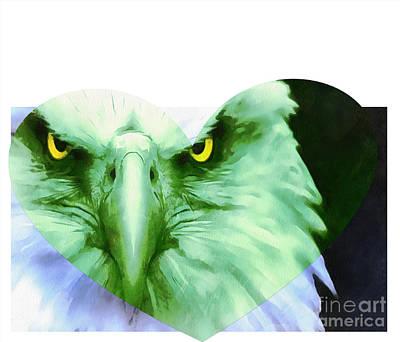 Trumped Green On Blue Art Print