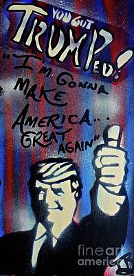 Liberal Painting - Trumped Up America by Tony B Conscious