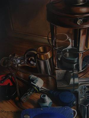 Tool Box Painting - Trumpe'loeil Still Life  by Ryan L  Jones